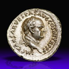 Vespasian, with Titus and Domitian, as Caesars. Silver Denarius (3.53 g), AD 69-79. Ephesus, AD 71. IMP CAESAR VESPAS AVG COS III TR P P P, laureate head of Vespasian right. Goldberg Coins and Collectibles