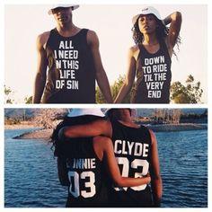 shirt bonnie and clyde matching couples couples shirts tshrt tank top beyonce shirts