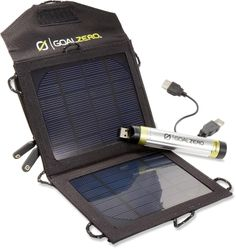 Charge your electronics at the tailgate to last through the game. Goal Zero Switch 8 Solar Recharging Kit.