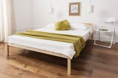 Double Bed Pine 4'6 Double Bed Wooden Frame Sussex: Amazon.co.uk: Kitchen & Home £60 including delivery