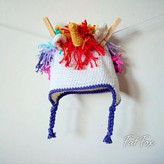 Crochet Unicorn Hat Baby Photo Prop New Baby Gift Baby Shower Present  by FatFoxDesigns on Etsy