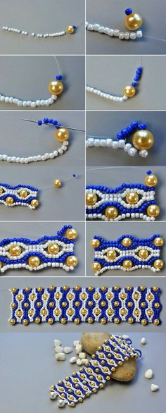 Spectacular -> Beaded Bracelet Patterns Free #follow