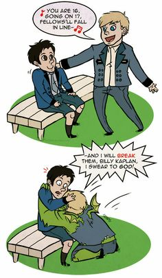 young avengers hulkling | (Hulkling) and Billy Kaplan (Wiccan) from Allan Heinberg's Young ...