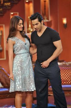 Varun Dhawan and Ileana D'cruz At 'Comedy Nights With Kapil' To Promote Film 'Main Tera Hero'