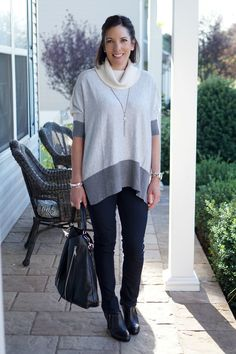 26 Days of Fall Outfits: Day 16 {Colorbock Turtleneck Tunic}