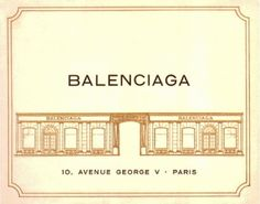 Balenciaga invitation card