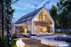 Projekt domu EX 19 energo plus Modern Barn House, Modern House Design, Modern Farmhouse Exterior, Exterior Design, Modern Architecture, Future House, Building A House, House Plans, House Styles