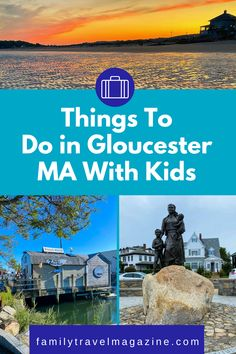 Gloucester Massachusetts is known as America's Oldest Seaport, and as you'd expect, there are plenty of waterfront activities with kids. Read about the best things to do with kids in Gloucester MA. Best Vacation Spots, Best Vacations, Stuff To Do, Things To Do, Good Things, Gloucester Massachusetts, New England Travel, Road Trip, America