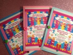 Made to Order  LALALOOPSY Invitations by MyAllyBally on Etsy, $1.65
