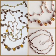 Brown Jade *Swarovski *jade *perles *mother of perle