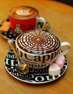 coffee art how to do a rosetta latte art Coffee Latte Art, I Love Coffee, Coffee Cafe, Coffee Break, Coffee Drinks, Iced Coffee, Hot Coffee, Coffee Girl, Coffee Lovers