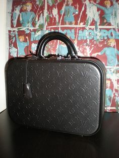 Louis #Vuitton Valisette MM from the Monogram Black Collection, F/W 2001
