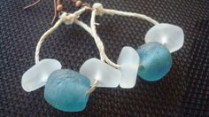 Recycled Glass and Cultured Sea Glass Earrings by MicheladasMusings on Etsy