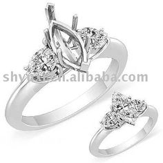 Pictures of Ring Settings For 3 Diamonds Hair