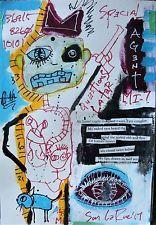 AGENT MI-7, LaRue, outsider art, art brut, street, neo expressionism, CANADIAN Poete Maudit