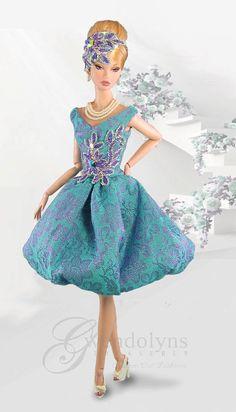 BUBBLE BROCADE Fashion for  Poppy Parker