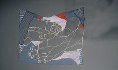 Dorie Millerson: Enfold (detail) 2003  needle lace, cotton
