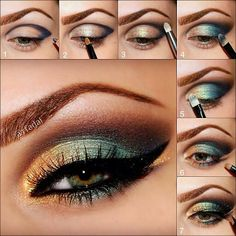 gorgeous green smokey eye