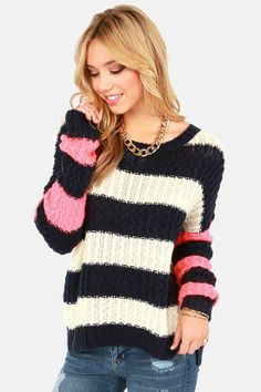 Comfy Striped Sweater.
