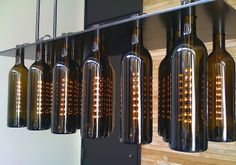 Wine bottle chandelier by niallkennedy, via Flickr