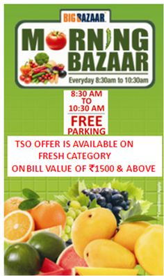 Step Into A Healthy Lifestyle With Big Bazaar's Morning Bazaar At The Great India Place #shopping #healthy #bigbazaar #greatindiaplace