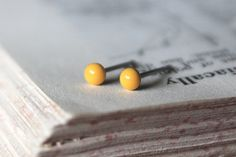 Dark Yellow Tiny Studs Several Sizes by eleanorjoseph on Etsy, $7.00