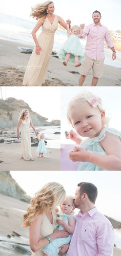 seaside {orange county & laguna beach family portraits} -I love the colors but I wouldn't let my husband wear the pink!