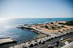 View off Grand Hotel Plazzo of Ligurian Sea in Livorno  #italy #livorno #terrazzamascagni #tuscany #coastline #hotelpalazzo #liguriansea