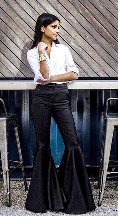 Wide Leg Jeans, Trousers, Pants, Flare Jeans, Bell Bottoms, Bell Bottom Jeans, Women Wear, The Originals, Elegant