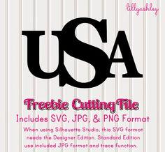 Make it Create by LillyAshley...Freebie Downloads: Free USA Printables & Free Cutting File #USA #freeprintables #freecutfiles