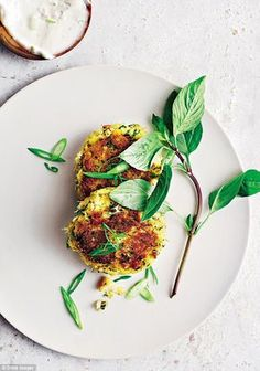 I love crab cakes in any form, but these, packed with Southeast Asian flavours and tons of fresh herbs, are my new favourite