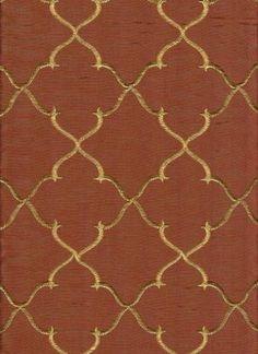 Ferretti+Copper. faux silk with gold embroidery. www.fabrichouse.com