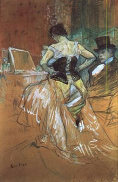 Henri De Toulouse-Lautrec | Woman at her Toilet, study for 'Elles' - Henri de Toulouse-Lautrec als ...