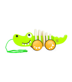 Walk Along Crocodile From Hape from The Wooden Toybox
