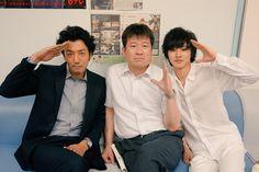 "Tomohisa Yuge as Aizawa x Jiro Sato as Mogi x Kento Yamazaki as L, filming all night, 08/01/'15, J drama series ""Death Note"", [Ep. w/Eng. sub] http://www.dramatv.tv/search.html?keyword=Death+Note+%28Japanese+Drama%29"