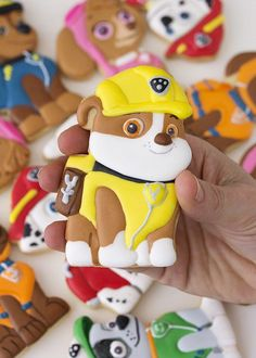 Cookies from Paw Patrol Birthday Party with FREE printables at Kara's Party Ideas. See more at http://karaspartyideas.com!