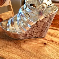 47bca653a1af Shop Women s Wild Diva Silver size Wedges at a discounted price at Poshmark.