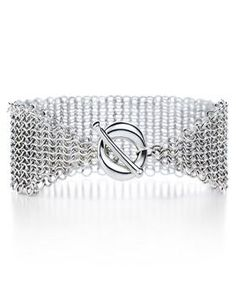 Elsa Peretti® Mesh toggle bracelet with Sevillana™ toggle in sterling silver. Tiffany And Co Bracelet, Tiffany Bracelets, Jewelry Bracelets, Bangles, Mesh Bracelet, Tiffany Jewelry Outlet, Tiffany And Co Outlet, Elsa Peretti, Sterling Silver Bracelets