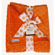 Yummy Orange Minky Baby Blanket-Features for our Yummy Orange Minky Baby Blanket: Luxurious minky baby blanket made with reversible orange minky dot chenille Handmade in the USA by one of Just Delivered's featured artists! With its modern and unique Baby Gift Sets, Baby Gifts, Soft Baby Blankets, Minky Baby Blanket, Cool Baby Stuff, Burp Cloths, Halloween Fun, Baby Love, Baby Shower Gifts
