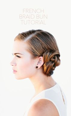 DIY French braid bun