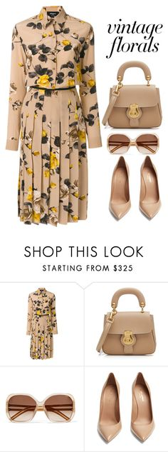 """Untitled #2964"" by carlene-lindsay ❤ liked on Polyvore featuring Rochas, Burberry, Chloé and Yves Saint Laurent"