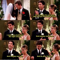 Ross Gellar on marriage