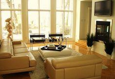 Furniture Cream Leather Sofa Color With Shag Rug And Plant Accessories Determining the Stunning Sofa for Sale With the Original Leather Material