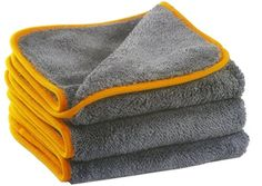 4X New Detailing Cleaning Car Soft Cloths Large Microfibre Ultra Absorbant TD-UK