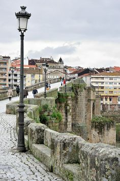 The Puente Romano, bridge crossing Rio Mino in Ourense, Galicia Beautiful World, Beautiful Places, Spain And Portugal, Europe, Countries Of The World, Photos, Pictures, Terra, Places To See