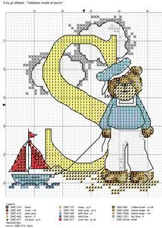 alfabeto orsetti al lavoro: S