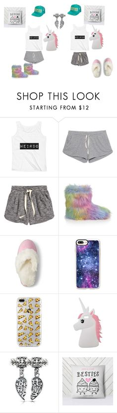 """Untitled #20"" by unicorns4life679 ❤ liked on Polyvore featuring American Vintage, H&M, Lands' End, Casetify, Miss Selfridge, Bling Jewelry and NBRHD"