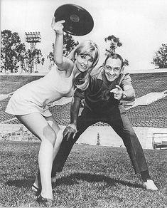Vintage photo: Frisbee