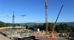 Tower crane 2 being assembled.