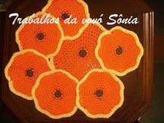 Trabalhos da vovó Sônia: Porta-copos (ou descanso para copos) fruta mexiric...